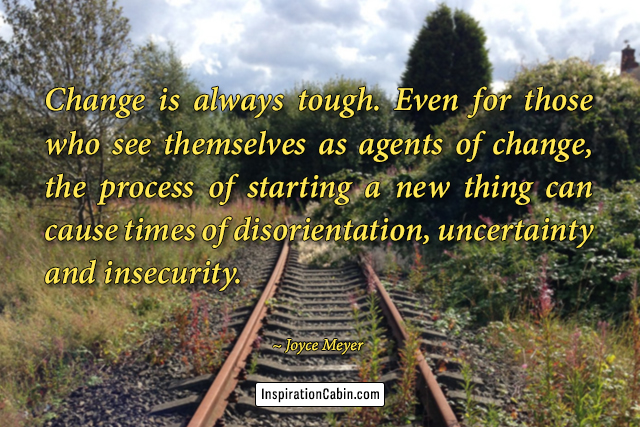 Change is always tough. Even for those who see themselves as agents of change, the process of starting a new thing can cause times of disorientation, uncertainty and insecurity.
