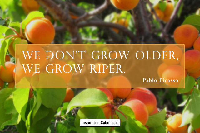 We don't grow older, we grow riper.