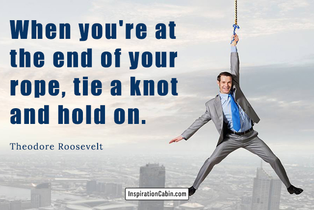A man holds the rope