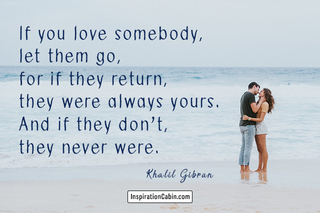 Romantic couple kissing on beach