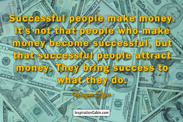 successful people attract money