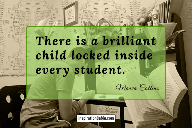 There is a brilliant child locked inside every student.