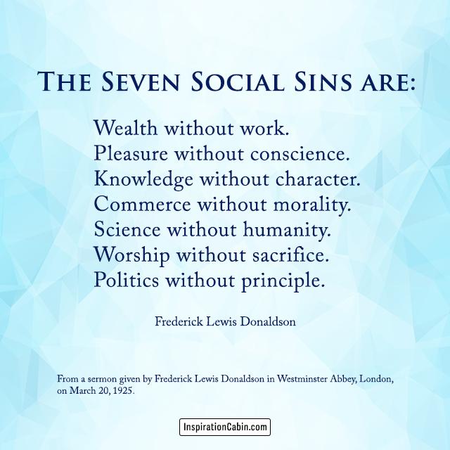 The Seven Social Sins