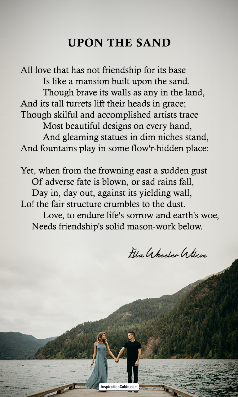 Upon the sand by Ella Wheeler Wilcox