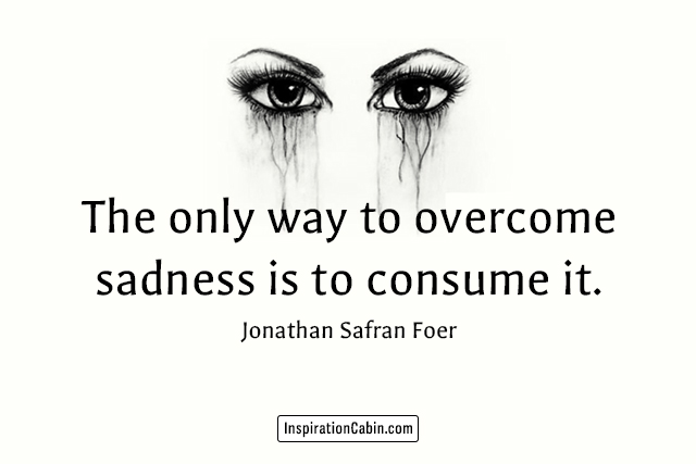 The only way to overcome sadness is to consume it.