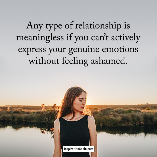 express your real emotions quote