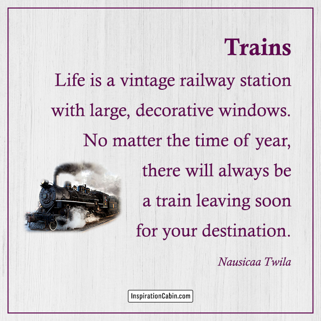 Trains poem