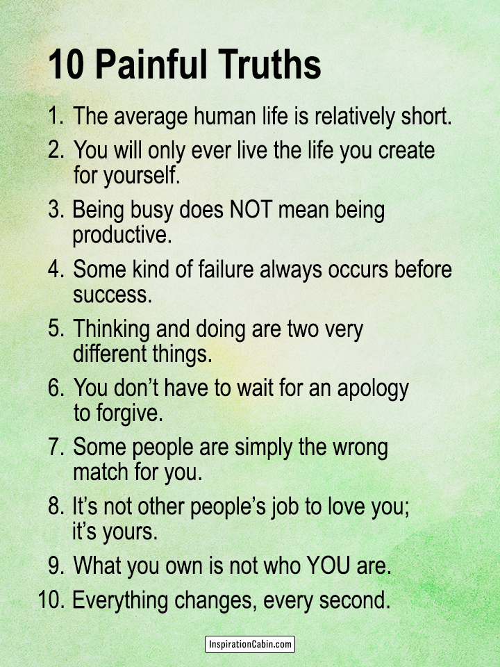 10 Painful Truths