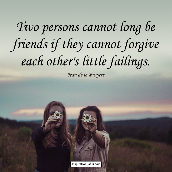 friends forgive each other