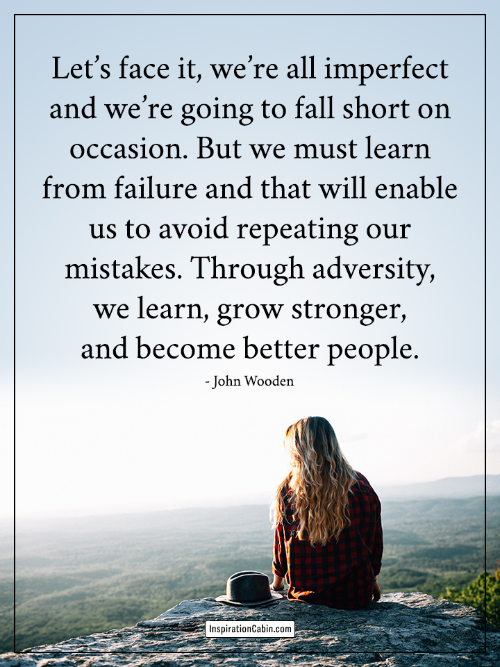 we must learn from failure