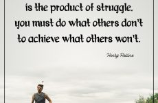 Strength is the product of struggle, you must do what others don't to achieve what others won't.