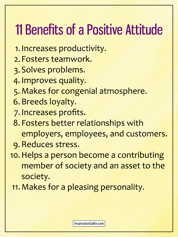 11 Benefits of a Positive Attitude