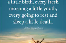 Each day is a little life