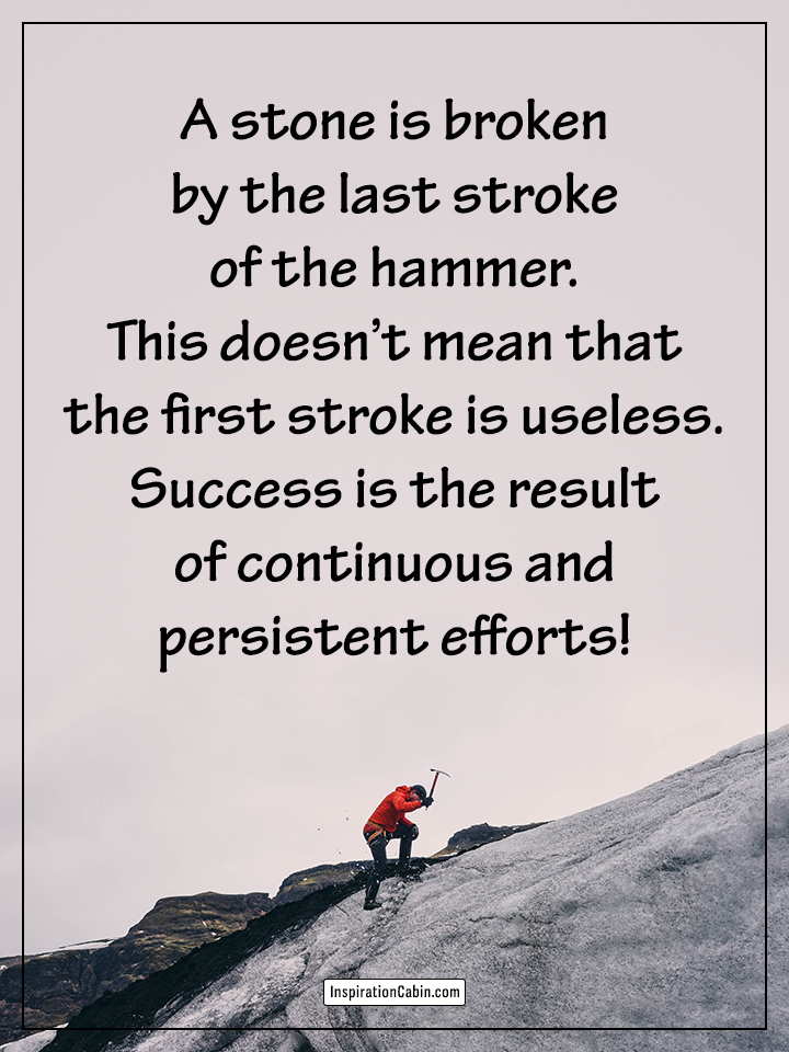 Success is the result of continuous and persistent efforts!