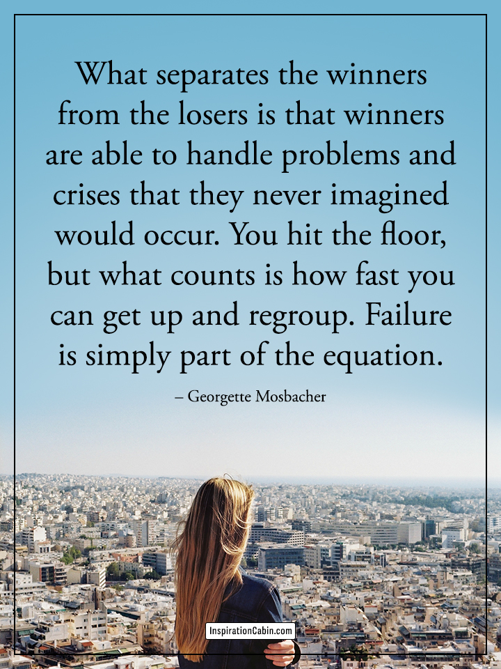 What separates the winners from the losers