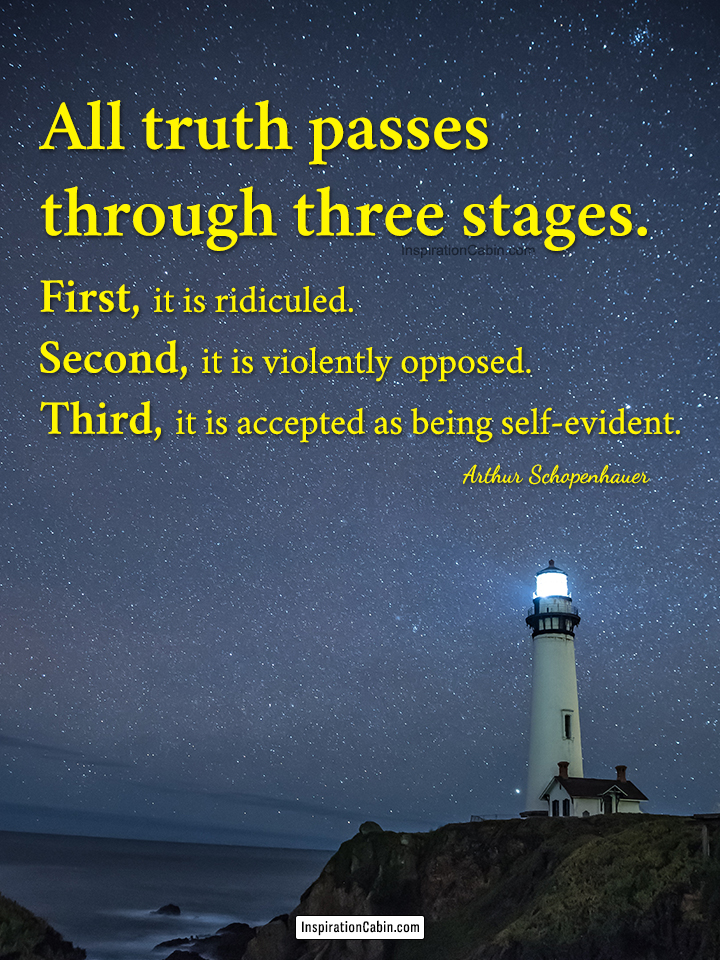All truth passes through three stages.