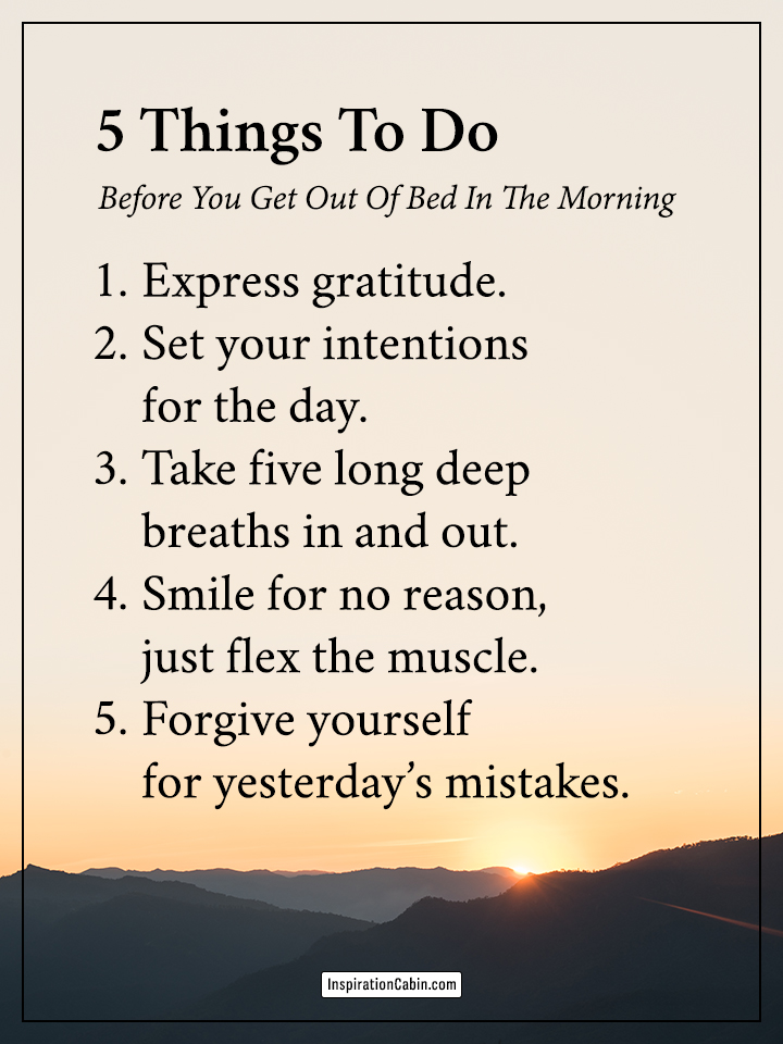 5 Things To Do Before You Get Out Of Bed In The Morning