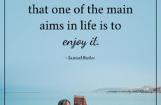 main aims in life is to enjoy it