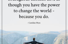 you have the power to change the world