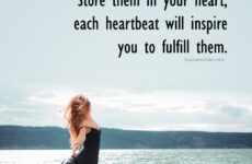 Store dreams in your heart
