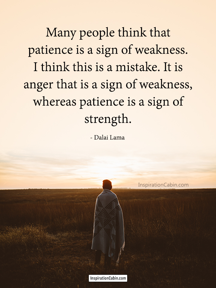patience is a sign of strength
