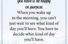 be happy on purpose